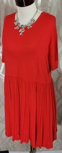 Modern Tunic Dress Red Large By Agnes & Dora